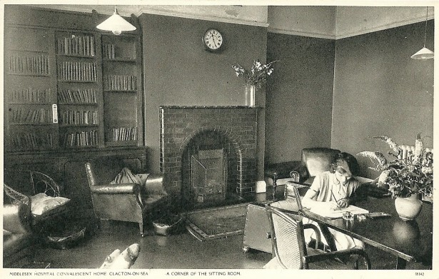 The Sitting Room, Middlesex Hospital, Clacton-on-Sea. Dated April 1948. Courtesy of Heather Anne Johnson.
